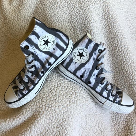 Nwot Converse Hi Tops Zebra Stripes